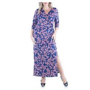 24 Seven Plus size Maxi Dress